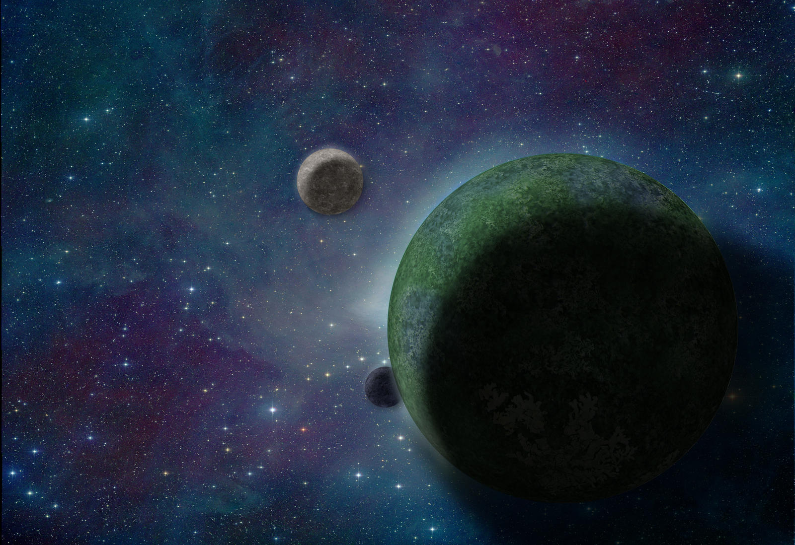 planet with four moons - photo #29