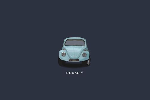 Minimalistic beetle by RokasArts