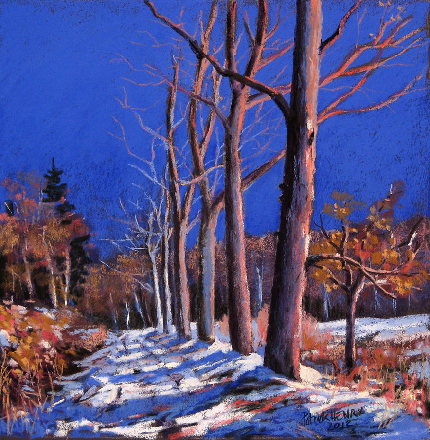 Snow in Normandy soft pastel by PatrickHENRY