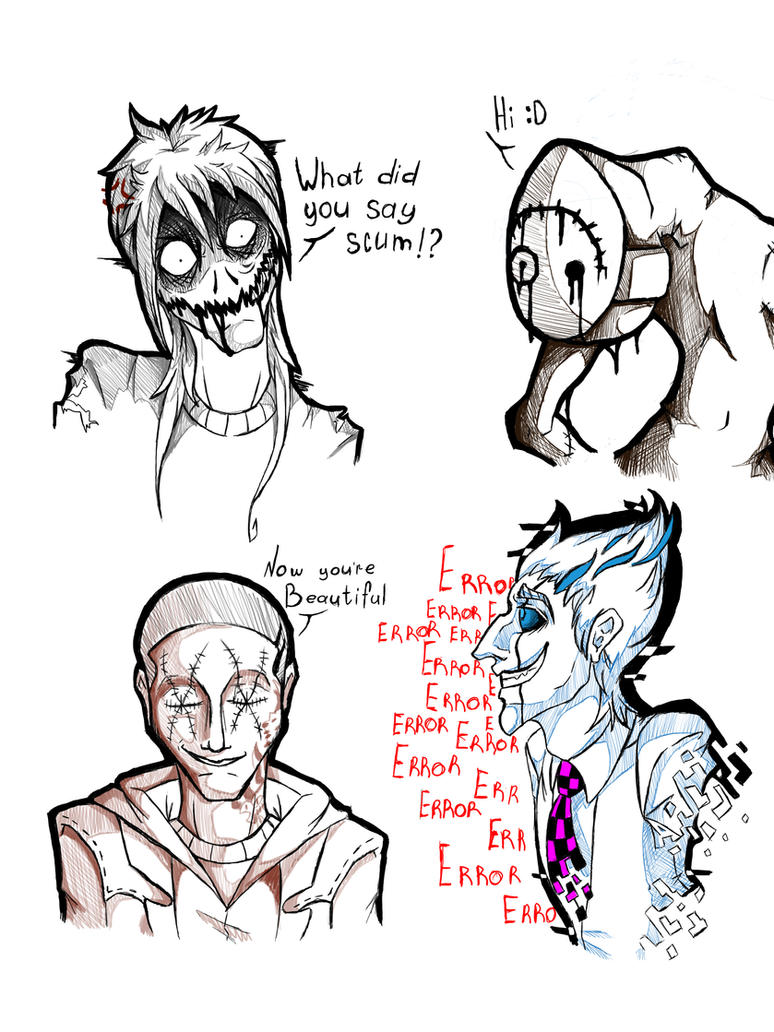 Small sketches of characters-[OC Creepypasta] by EvilOvoshch on ...