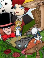 Alice in Wonderland by kaicastle