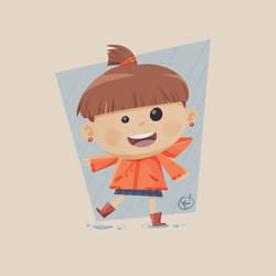 Kid in Orange