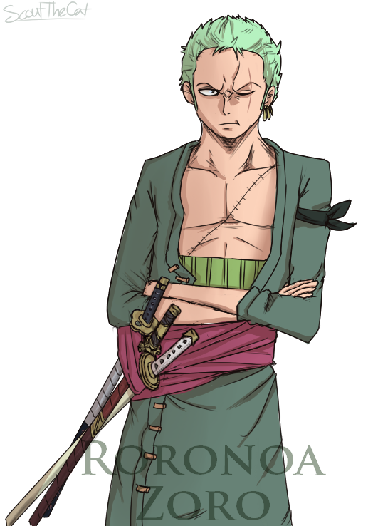 Zoro edit thing by ScoutTheCat