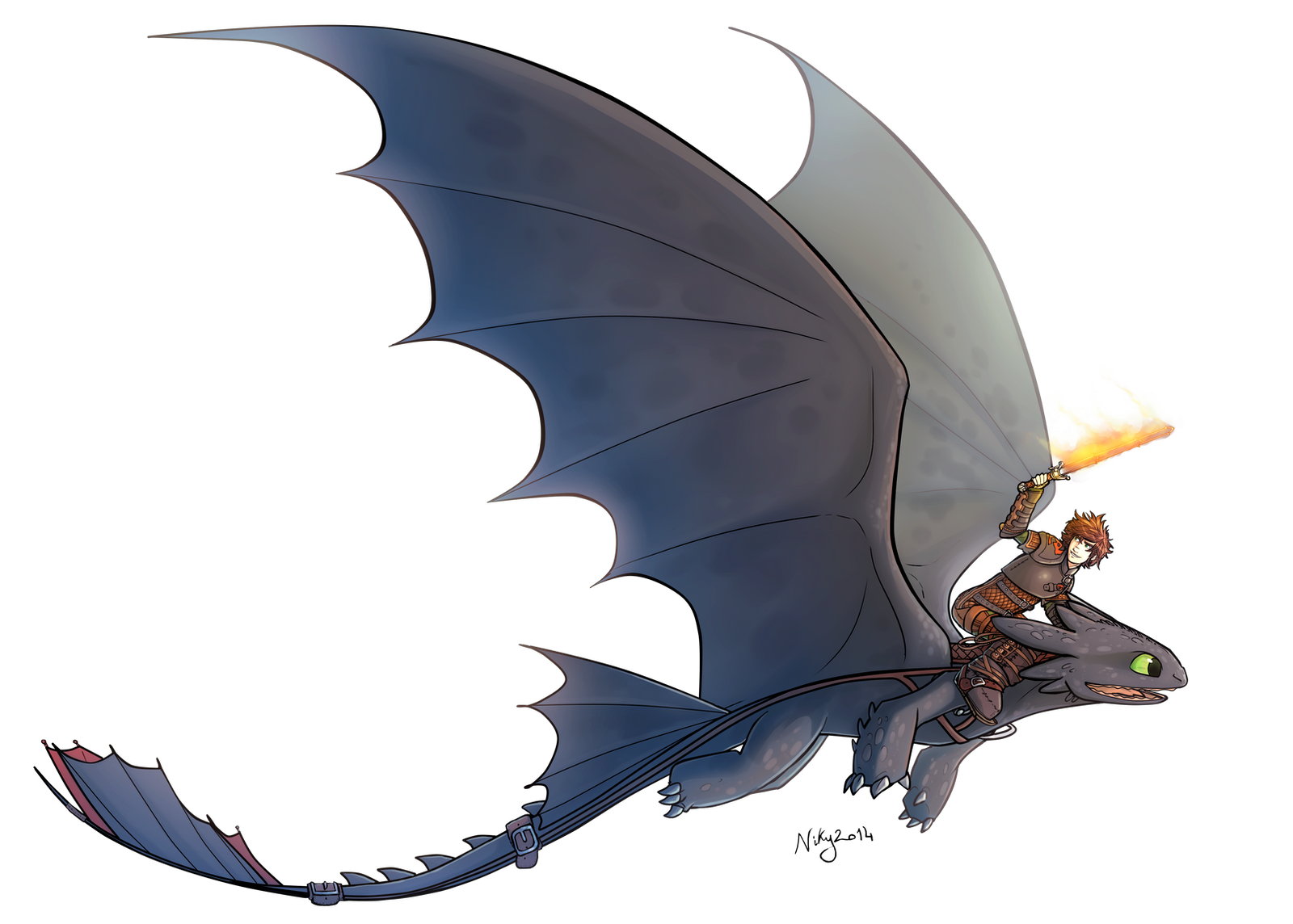Httyd 2 Hiccup and Toothless by MatildaDavidson on DeviantArt