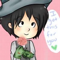 I got you a flowerr by duckychan97