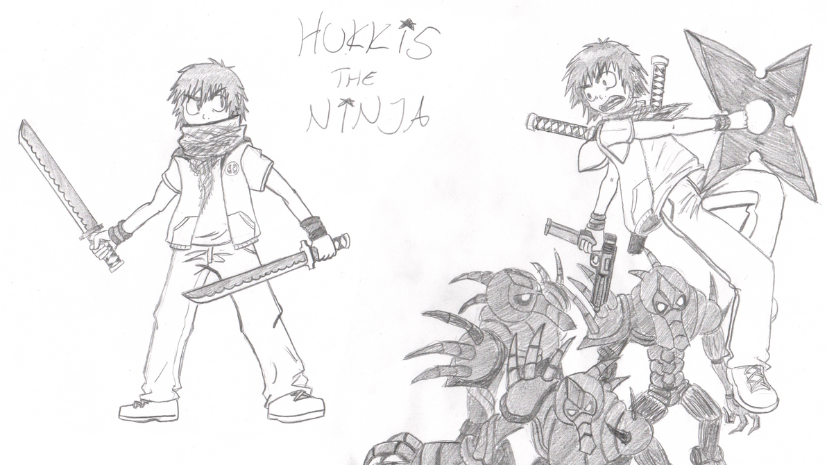 Hukkis the Ninja (b-day gift) by Darkkis91