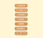 Gingerbread Forum Rank Buttons