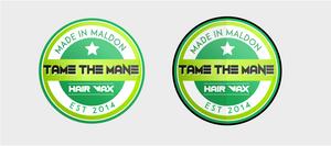 Hair Wax Label Logo