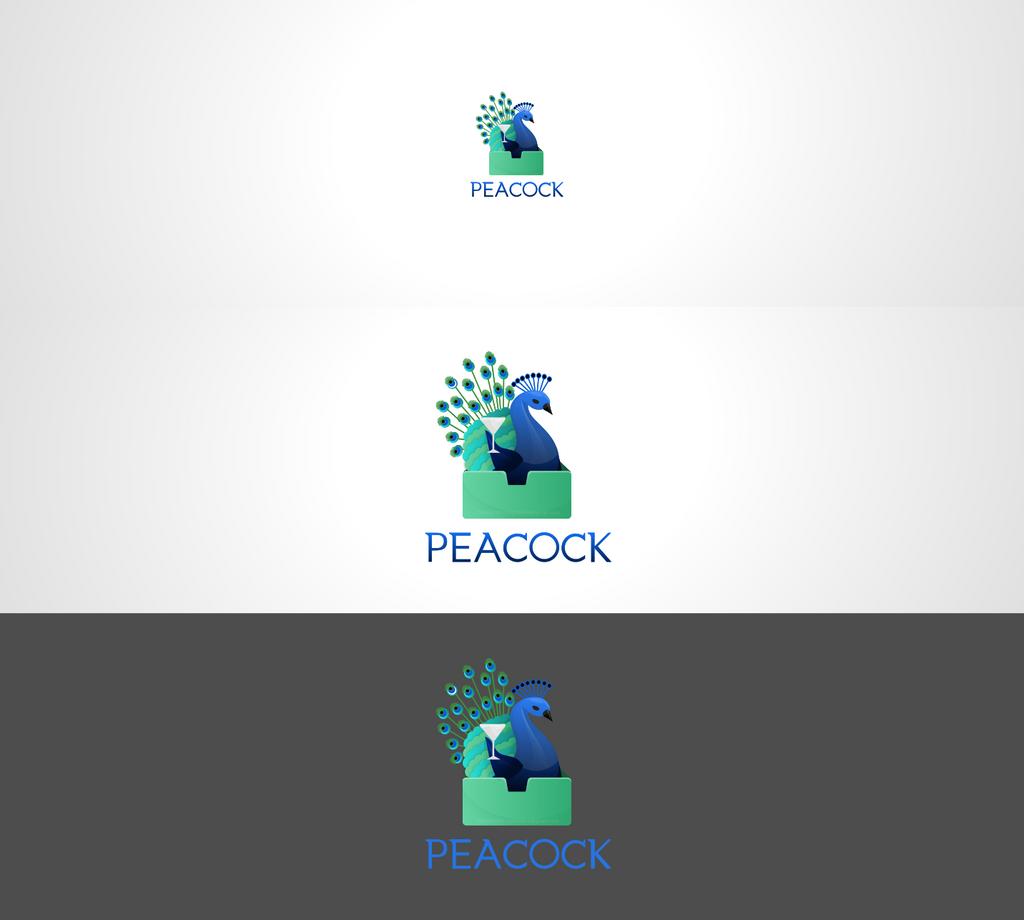Peacock - Cocktail in a box logo concept