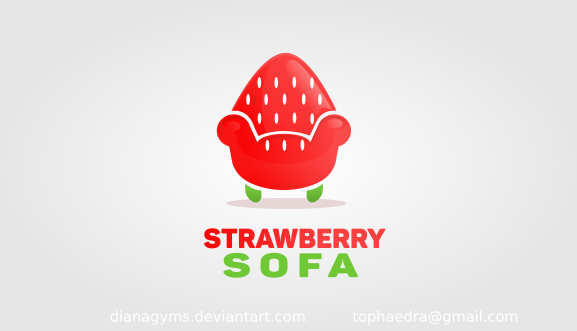 Strawberry Sofa Logo For Sale By Dianagyms On Deviantart