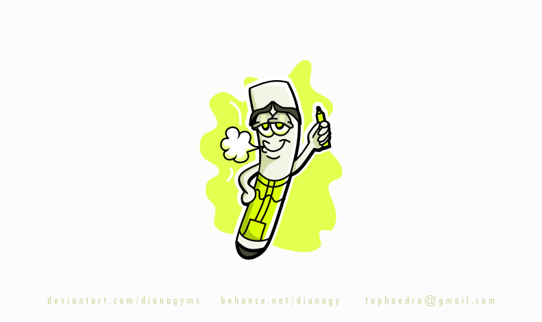 Vape Character Mascot