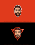 Bearded Man Cartooned Logo