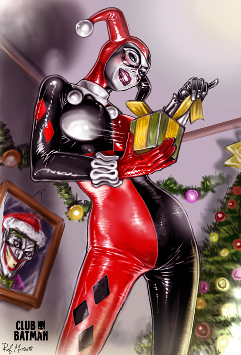 Harley Quinn Xmas vers. by RaffaeleMarinetti