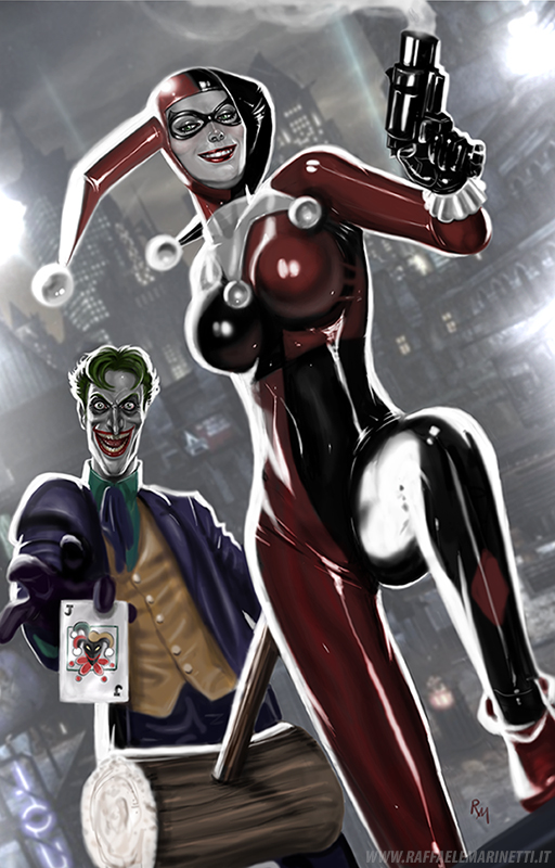 Harley Quinn and Joker by RaffaeleMarinetti