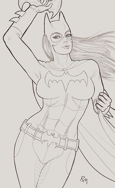 Batgirl Gh56 Sketch by RaffaeleMarinetti