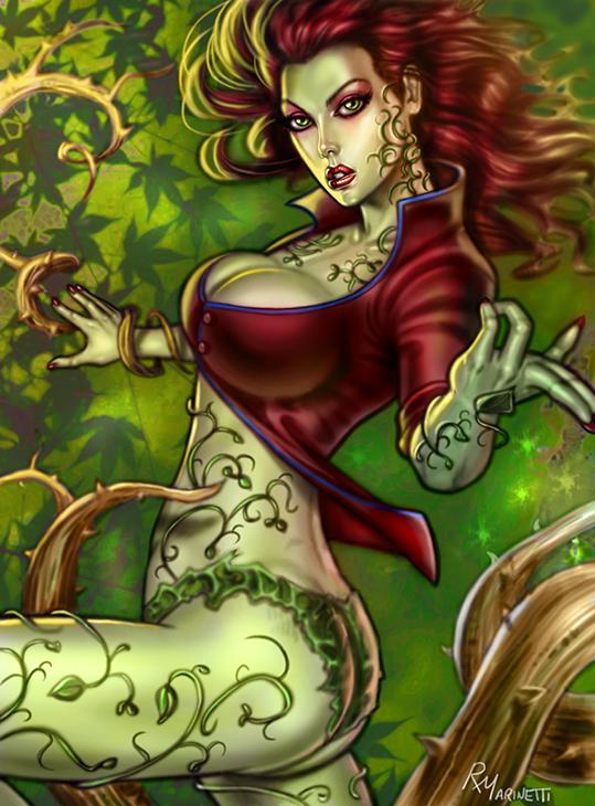 Poison Ivy Arkham Asylum by RaffaeleMarinetti