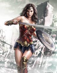 Wonder Woman - Gal Gadot by RaffaeleMarinetti