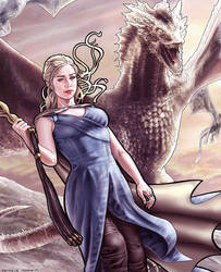 Daenerys Targaryen - Mother of Dragons by RaffaeleMarinetti