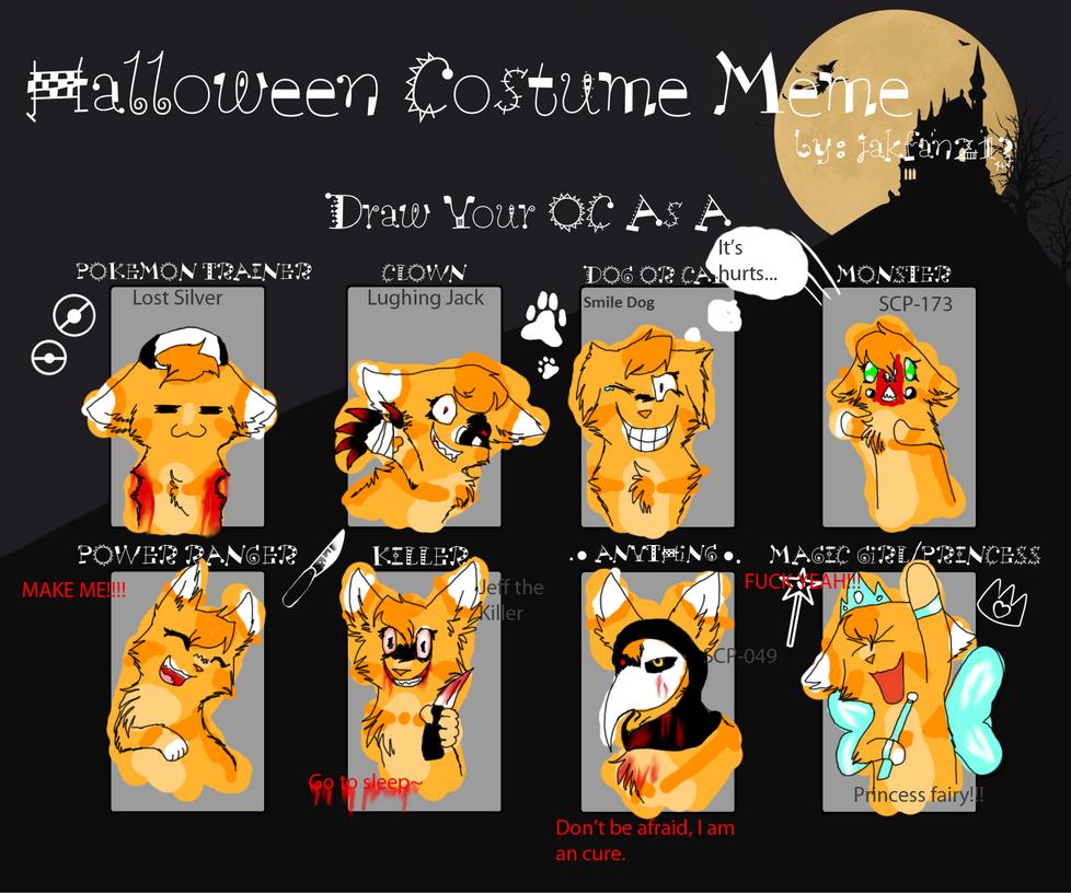 Halloween Costume Meme by SCP-Rose on DeviantArt