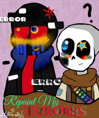 Error x Ink fanfiction cover by florencio123
