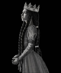 Queen Joan Of Navarre - Black and White