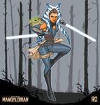 Ahsoka Tano and The Child The Mandalorian FanArt