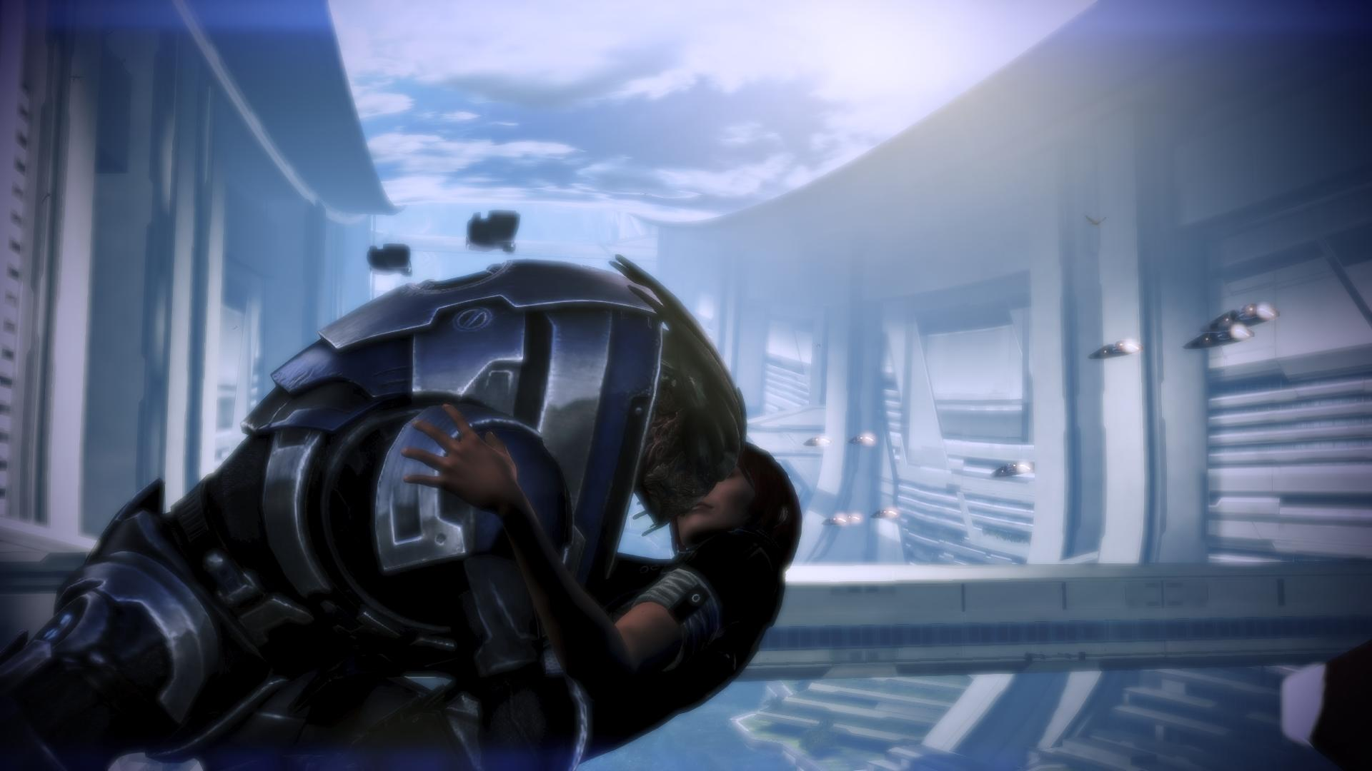 ME3 Shepard and Garrus: Love and Light by CaptBuck98