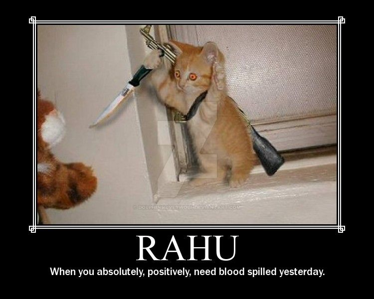 nWoD Kitten Motivator: Rahu by DolphinSilverwolf