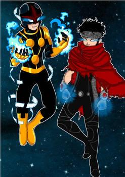 Marvel Universe : Nova x Wiccan