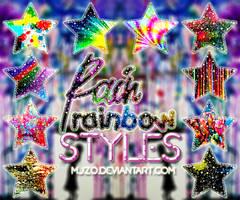 Rain rainbow Styles. by Mjzo