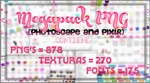 Megapack PNG [Photoscape and Pixlr]