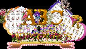 Abecedario de flores PNG/Flower alphabet PNG.
