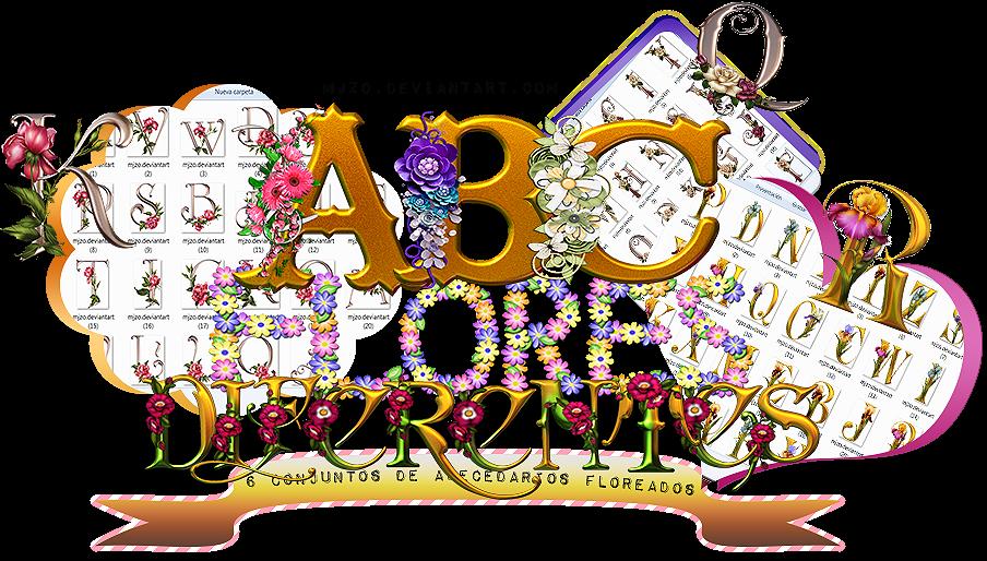 Abecedario de flores PNG/Flower alphabet PNG. by Mjzo