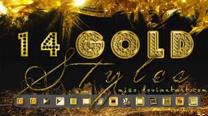 Gold styles.