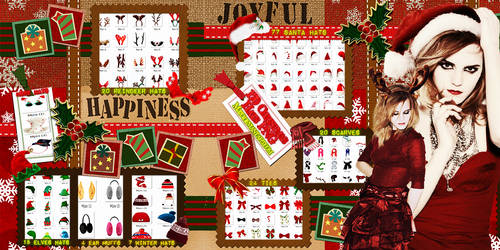 Christmas hats and clothes PNG.