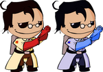 RED and BLU Medic Sackboys