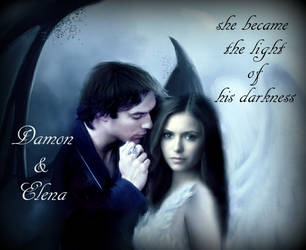 Damon and Elena...the light of his darkness by LadyRaw90