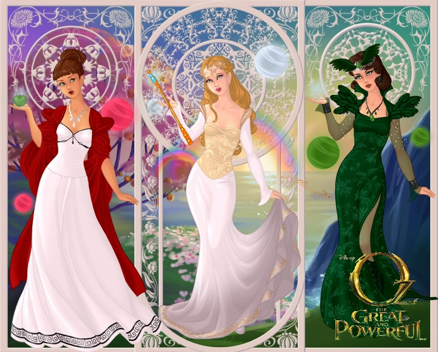 oz the great and powerful witches by ladyraw90 on