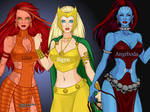 Loki's wives: Glut, Sigyn and Angrboda