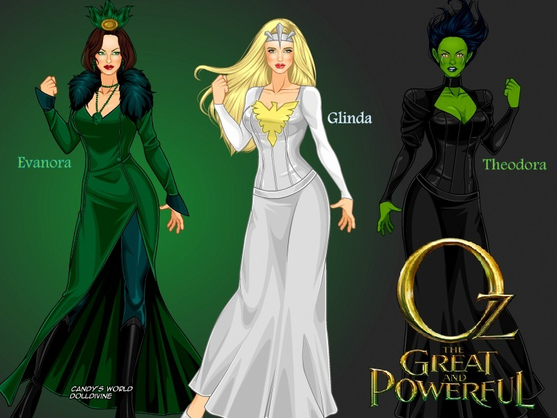 oz the great and powerful witches by ladyraw90 on deviantart
