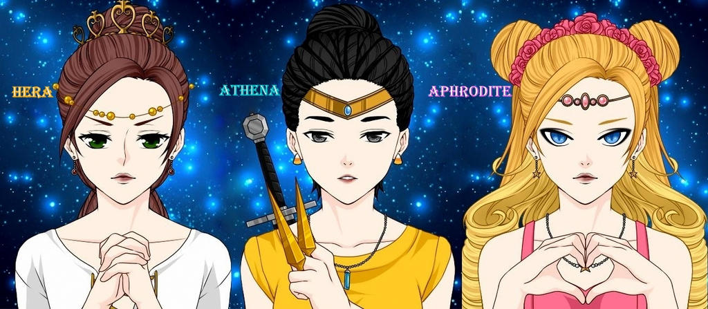 Hera Athena And Aphrodite By Ladyraw90 On Deviantart