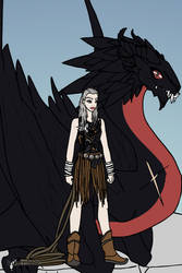 Daenerys and Drogon by LadyRaw90