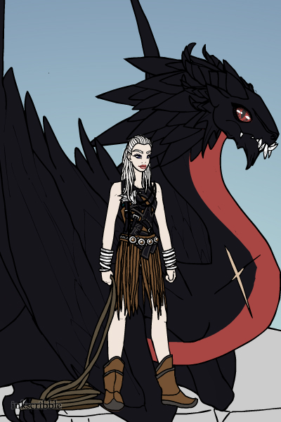 Daenerys and Drogon by LadyRaw90