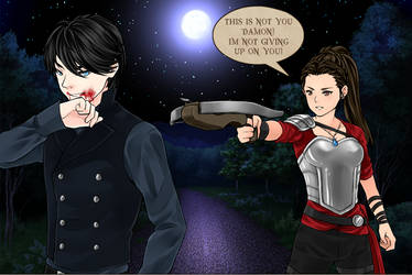 The beast and The warrior princess (Delena) part1 by LadyRaw90