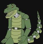 Griev- animatronic crocodile-komodo dragon hybrid