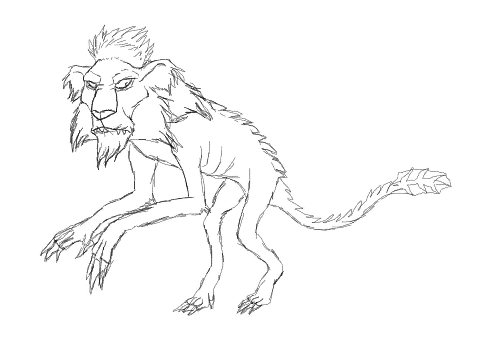 Antlion doodle by Redspets
