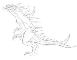 Chiraki full body sketch by Redspets