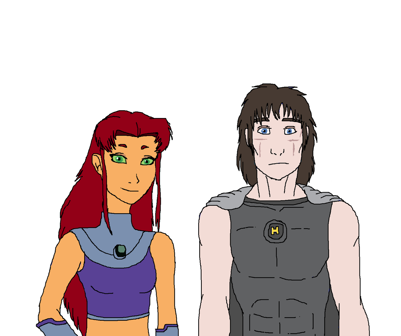 Starfire And Hero by Redspets