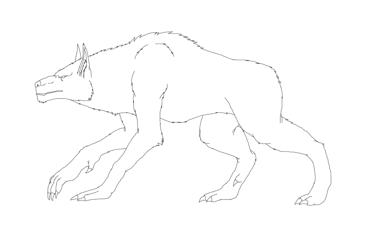 Werewolf base by Redspets