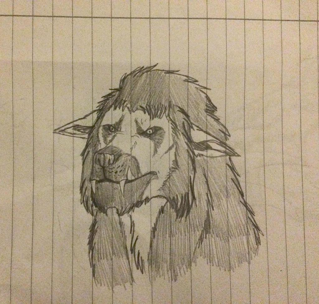 Tim werewolf form by Redspets